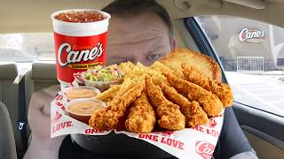 Raising Cane's ☆6PC TENĎERS CANIAC COMBO☆ Food Review!!!