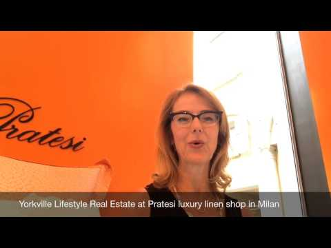 Have you ever visited the fine line shop, Pratesi, in Milan, Italy?