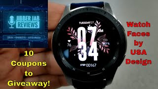 Samsung Galaxy Watch/Gear Watch Faces by USA Design - 10 Coupons to Giveaway! - Jibber Jab Reviews!