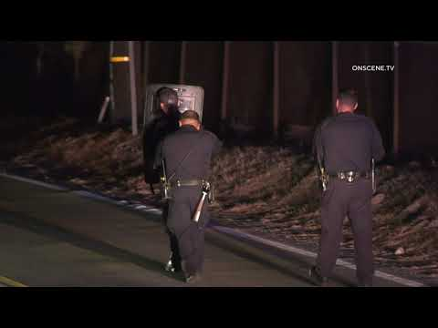 Suspect Fires Rounds at CHP in Tujunga Canyon