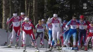XXII Зимние Олимпийские Игры 2014 / Лыжные гонки / Женщины / Масс-старт 30 км. /