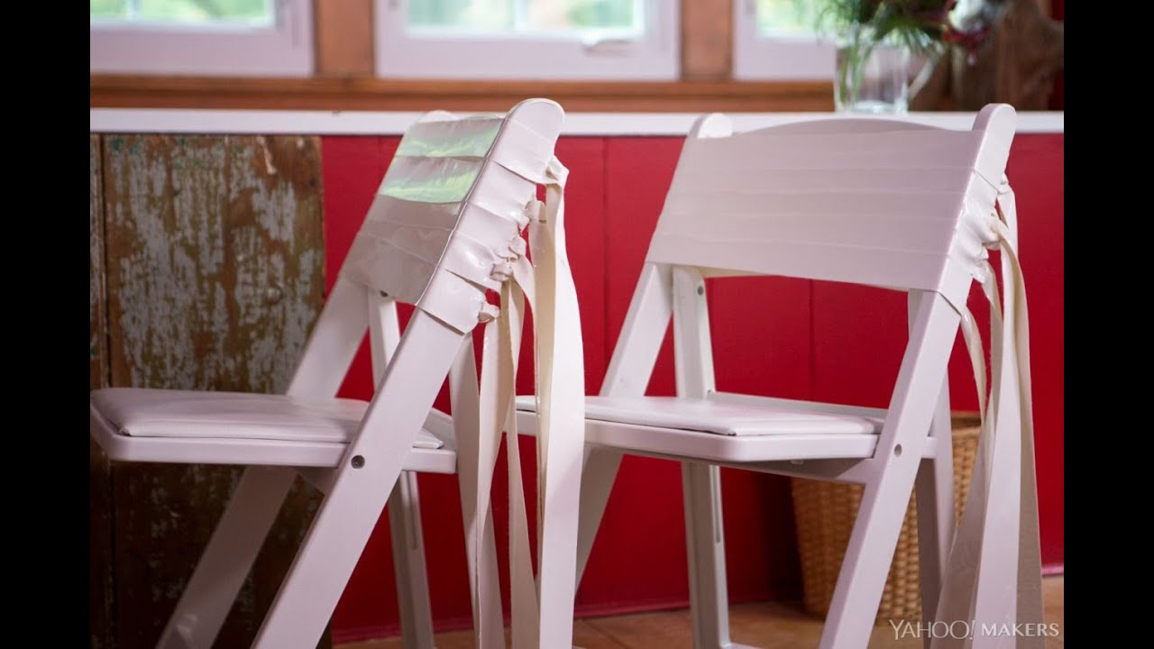 How To Dress Up Ugly Folding Chairs For Thanksgiving Guests
