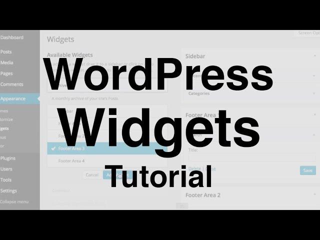 WordPress Widgets Tutorial