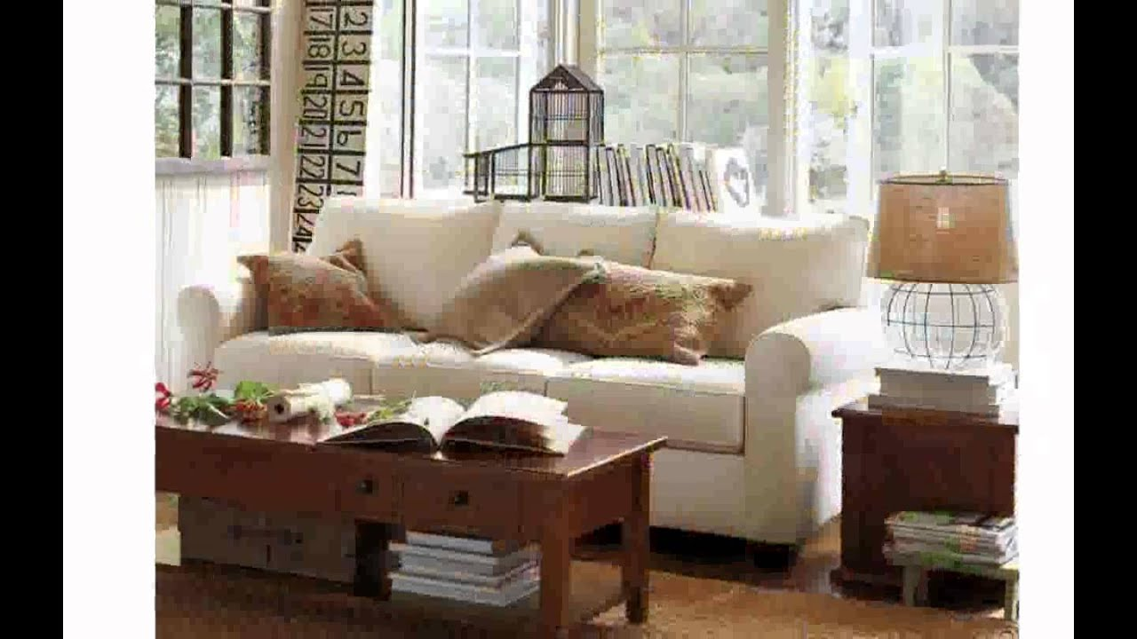 Pottery Barn Living Room Furniture - YouTube