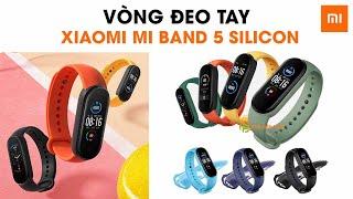 Dây đeo thay thế Xiaomi Mi Band 5 dây silicon vòng đeo tay Miband 5 nhiều màu
