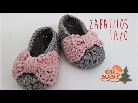 A 3 Lazo Bebés0 Crochet Zapatitos MesesYoutube Para ymwv0P8ONn