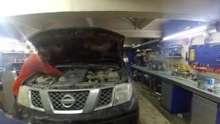 Замена топливного фильтра Nissan Navara 2008г