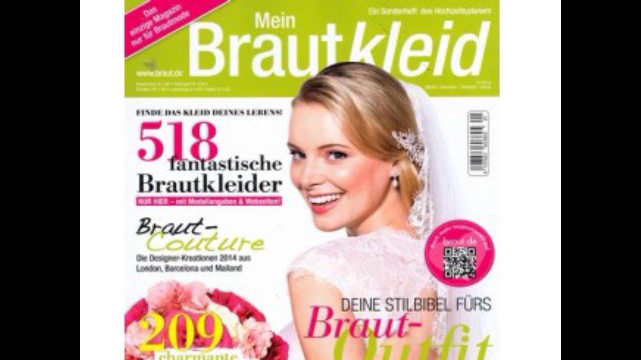 Hochzeit Heiraten Brautmoden Mein Brautkleid 1 2014 Magazin Schleppe ...