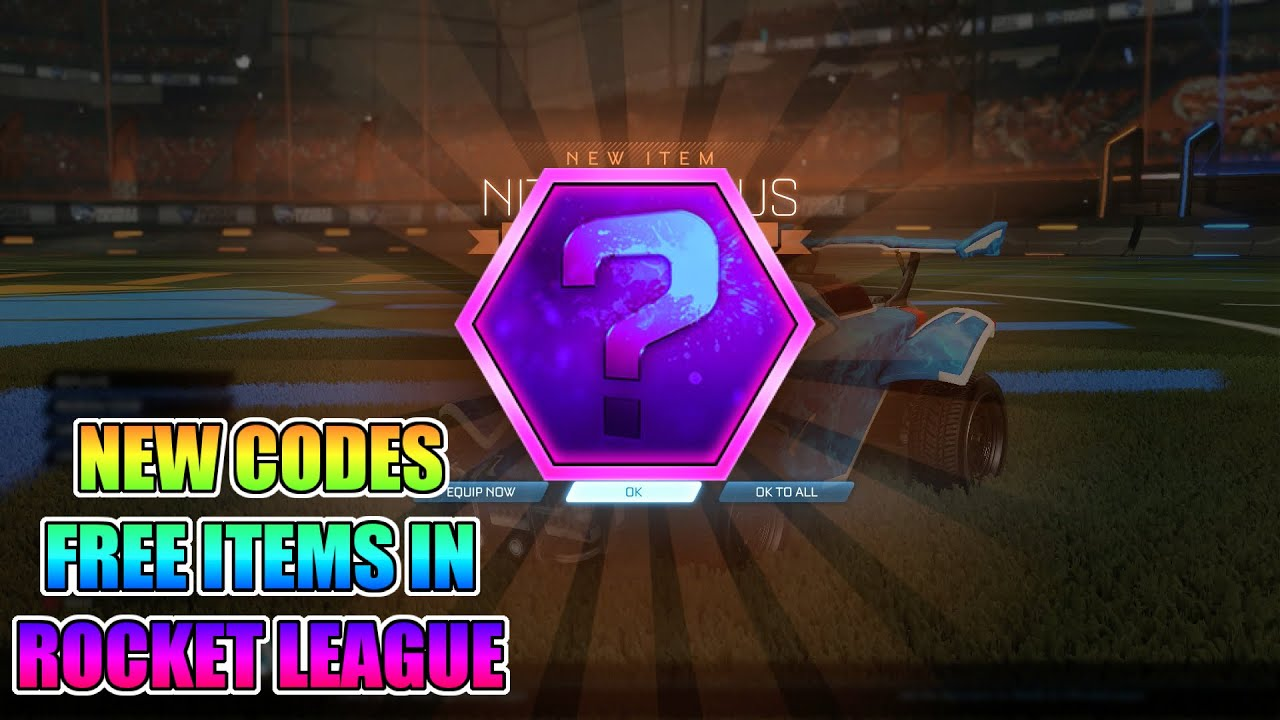 NEW CODE! FREE ITEMS IN ROCKET LEAGUE!!!