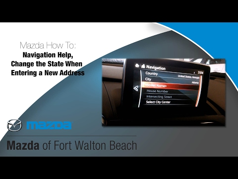 Mazda Navigation How to: Change the state when entering an address