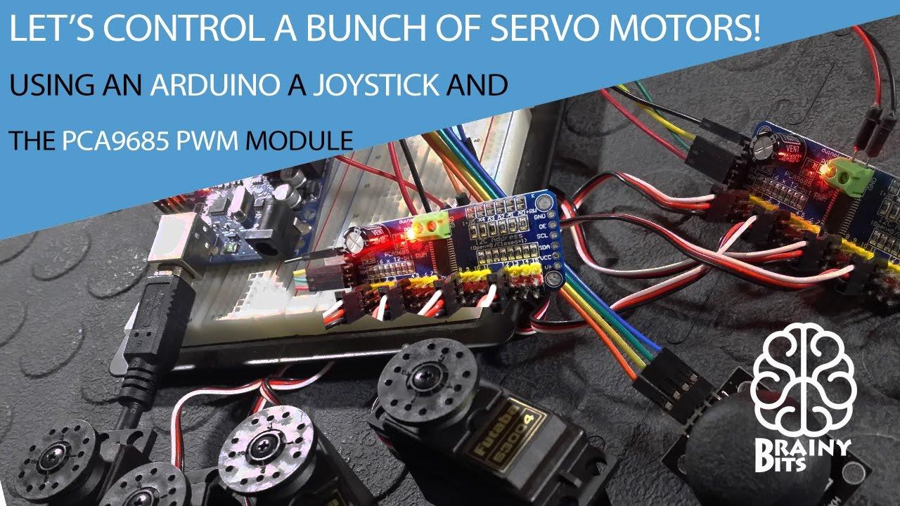 Control a lot of servo motors using joystick arduino