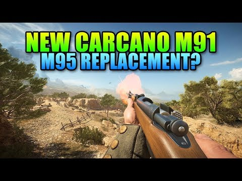 New Carcano M91 Sniper Rifle Review - M95 Replacement? Battlefield 1 Turning Tides