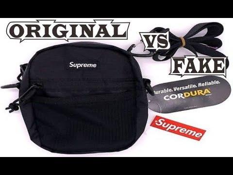 Supreme Shoulder Bag Black FW17 Original & Fake - YouTube