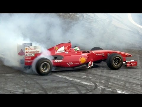 2009 Ferrari F60 Formula 1 Car - Sound & Burnouts