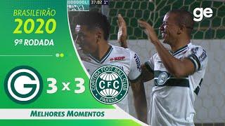 GOIÁS 3 X 3 CORITIBA | MELHORES MOMENTOS | 9ª RODADA BRASILEIRÃO 2020 | ge.globo
