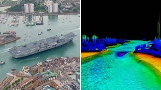 How did HMS Queen Elizabeth fit into Portsmouth Harbour?