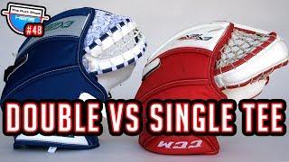 Double vs Single Tee Pocket Goalie Glove | GoPro Hockey [HD] - GAME 48