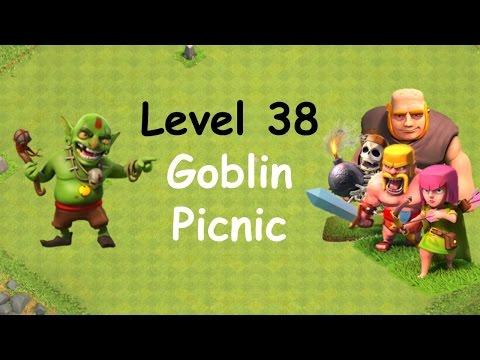Clash of Clans - Single Player Campaign Walkthrough - Level 38 - Goblin Picnic