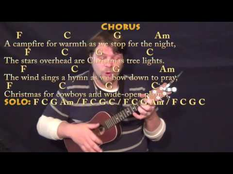 Christmas for Cowboys (John Denver) Ukulele Cover Lesson in C with Chords/Lyrics