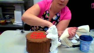 Cereal Treat Cake Figurine Molding Tutorial Video 3--westie Dog