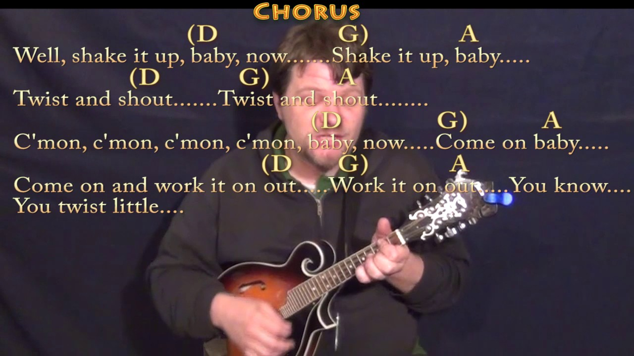 Twist And Shout The Beatles Mandolin Lesson Chord Chart With