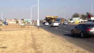 Transylvania Towing Services transport CAT 777 Dump Truck