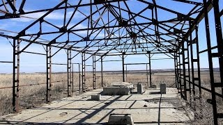 Ruins of the Naval Reserve oil field, Oklahoma