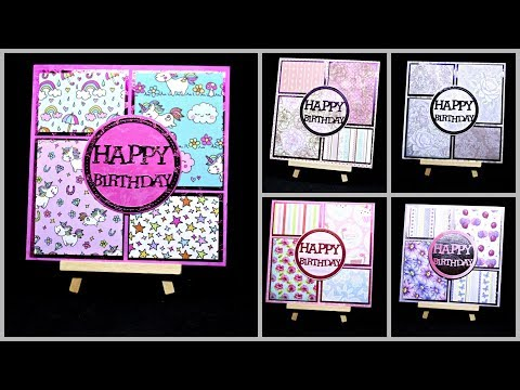 Karten basteln für Geburtstag mit Papier   DIY Ideen Inspiration   Geschenk selber basteln