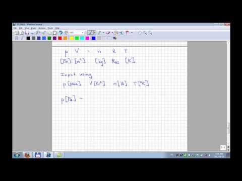Units Conversion (Ideal Gas Law)