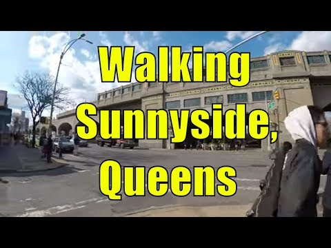 ⁴ᴷ Walking Tour of Sunnyside, Queens, NYC