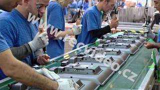 ČR - průmysl - výroba - pásová linka - dělník - LCD televizor