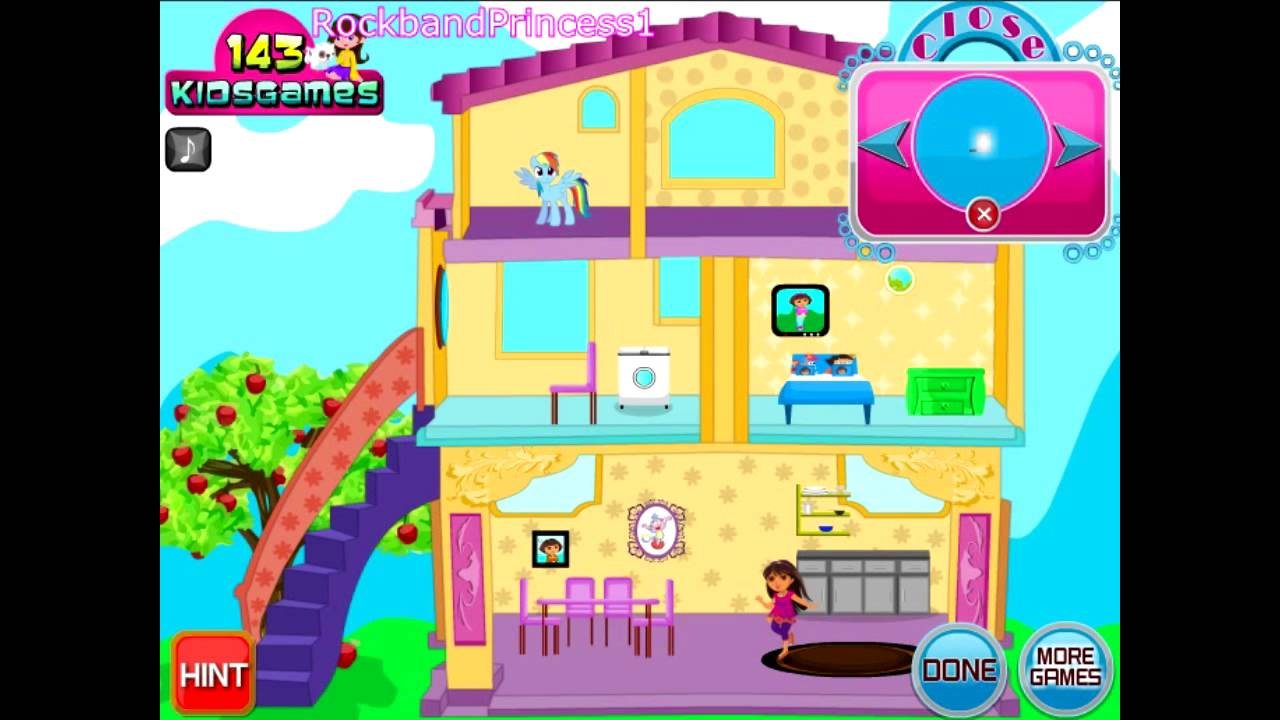 Dora The Explorer Online Games Dora Dress Up House Game