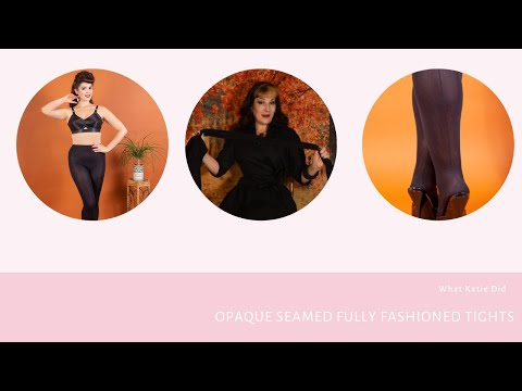 Opaque Seamed Fully Fashioned Tights (yes really!)