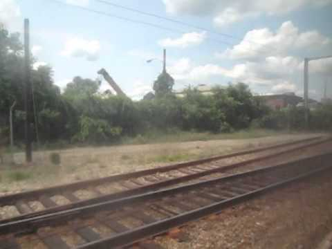Riding the MBTA Commuter Rail train from Back Bay Station to Mansfield- Friday July 18, 2014