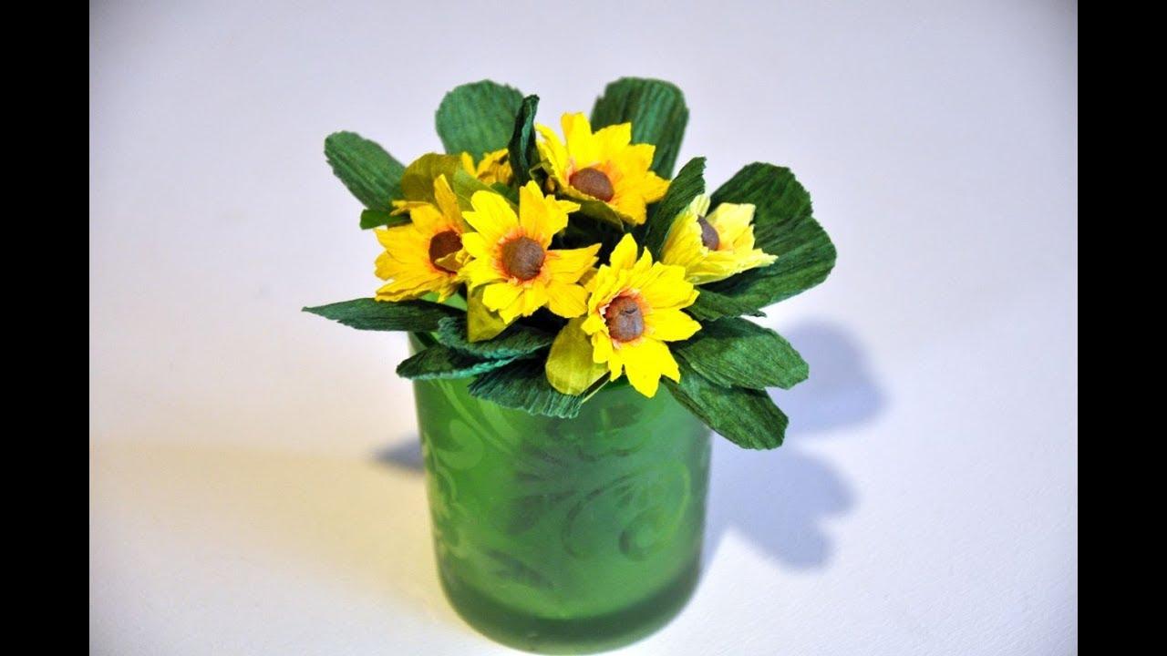 Kwiaty Z Krepiny Krok Po Kroku How To Make A Flower With Crepe Paper Diy Youtube