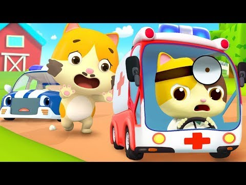 Go! Doctor and Ambulance | Police Cartoon, Doctor Cartoon | Nursery Rhymes | Kids Songs | BabyBus