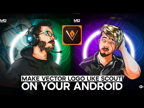 How to make Vector Logo like scout and hydra flicks on Android // ADOBE DRAW TUTORIAL //