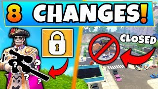 Fortnite Update: WEAPONS VAULTED + DURRR BURGER CLOSED! - 8 Secret CHANGES in Battle Royale!