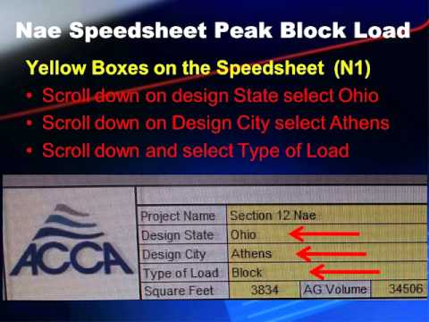 instructions for using acca manual n speedsheet youtube rh youtube com acca manual n used acca manual n table 4a