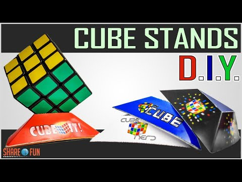 How To Make Cube Stands D.I.Y. | Homemade Rubiks Cube Holder