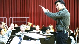 Chinese PLA Band Director Conducts The U.S. Army Field Band