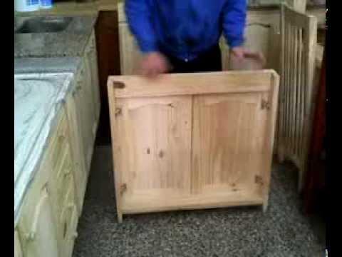 Argen pino frentes bajomesada youtube - Como hacer puertas de armario ...