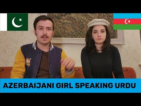 Azerbaijani Girl Aminah Speaking Urdu with a Pakistani - Vlogistan Urdu language challenge