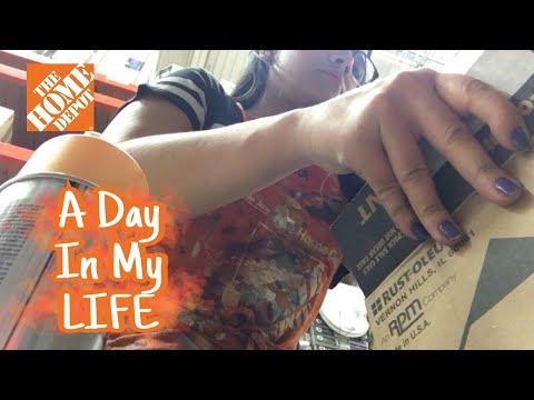 DAY IN MY LIFE: WORKING AT HOME DEPOT   UN DÍA EN MI TRABAJO!
