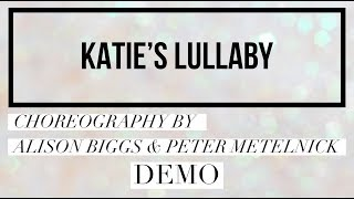 KATIE'S LULLABY line dance demo, choreography by Alison Biggs & Peter Metelnick