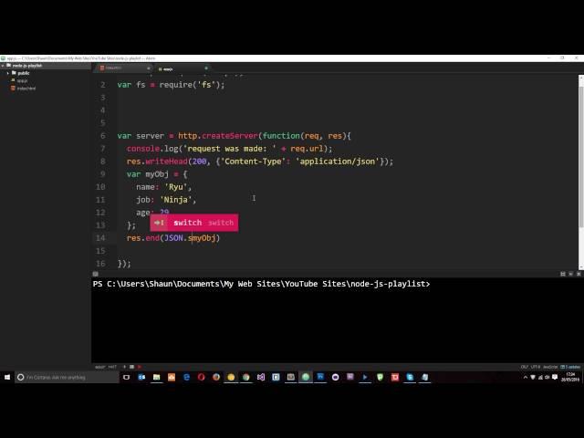 Node JS Tutorial for Beginners #18 - Serving JSON Data