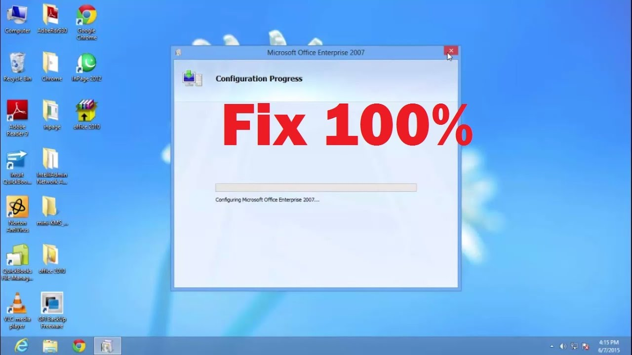 office enterprise 2007  How to fix Microsoft Office Configuration Progress Every time When ...