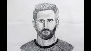 How to draw Lionel messi step by step easy
