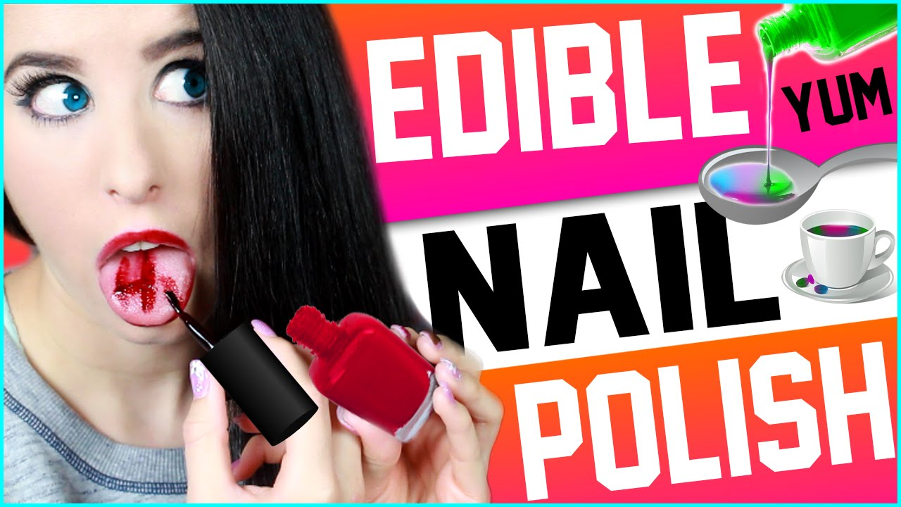 Edible Nail Polish! | Eat Nail Polish! | Watch Me Drink Nail Polish ...