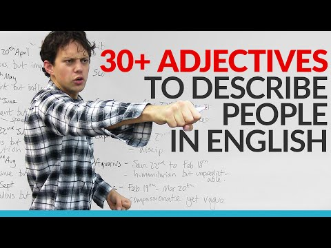 Vocabulary  Learn 30 adjectives in English to describe your personality